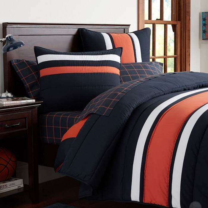 ORANGE NAVY STRIPE