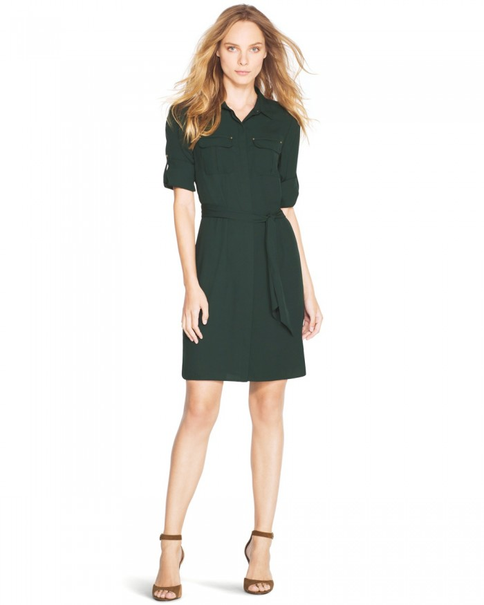 UTILITY SHIRT DRESS - WHITE HOUSE /BLACK MARKET - ON SALE - I JUST GOT THIS DRESS AND IT IS AWESOME!!!1