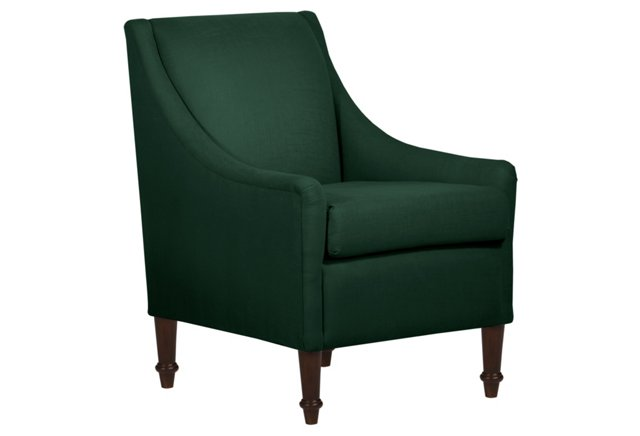 ONE KINGS LANE Holmes Armchair, Dark Green
