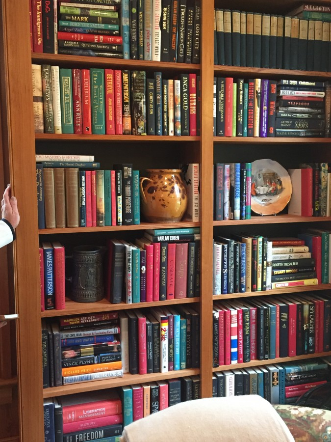 I LOVED THE STYLING OF THE BOOK CASES...AND THE COLLECTION WAS WONDERFUL!