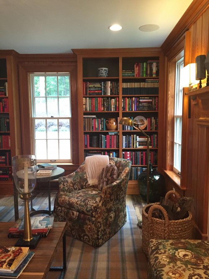 LIBRARY 2015 SOUTHERN LIVING IDEA HOUSE IN CHARLOTTESVILLE, VA.