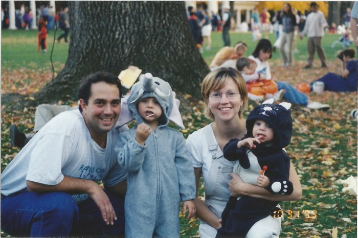OUR LITTLE FAMILY - (PRE COOPER) TRICK OR TREATING ON THE UVA LAWN 1999 -