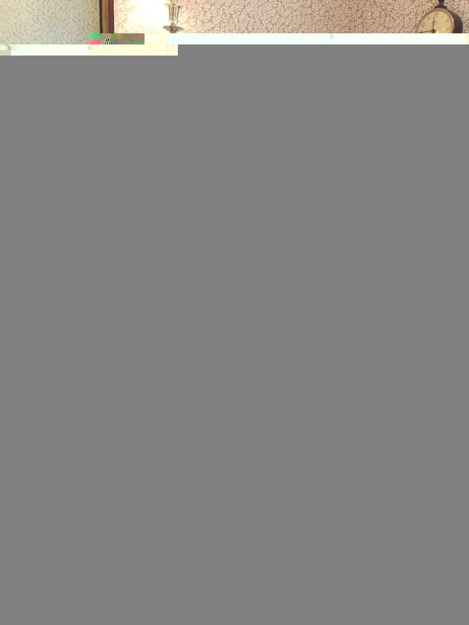 HALF BATH - MIRROR, SINK, WALLPAPER -LOVE!
