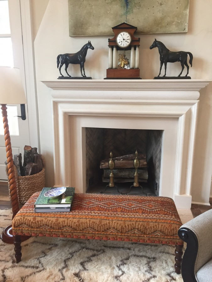 FIREPLACE 2015 SOUTHERN LIVING IDEA HOUSE IN CHARLOTTESVILLE, VA.