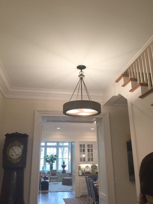 """SHOWHOUSE ENTRYWAY PAINTED SHERWINN WILLIAMS """"STEAMED MILK"""""""