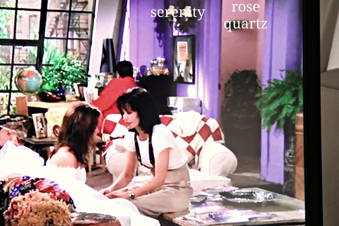 FRIENDS - 1994 serenity and rose quartz walls