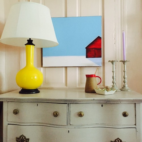 YELLOW LAMP AND BLUE SKY
