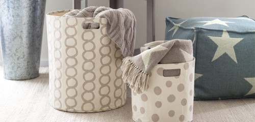 DASH AND ALBERT STORAGE BINS ARE AWESOME AND COME IN COLORS WHICH ARE MORE GROWN UP BUT STILL PERFECT FOR KIDS ROOMS