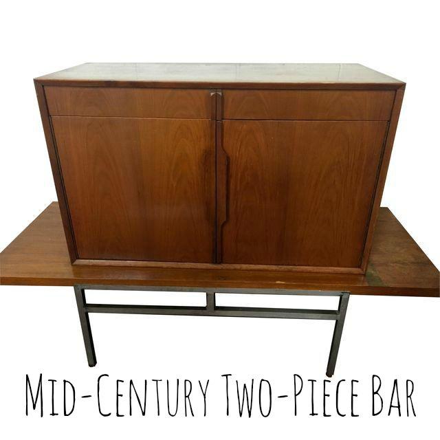 MID CENTURY TWO PIECE BAR
