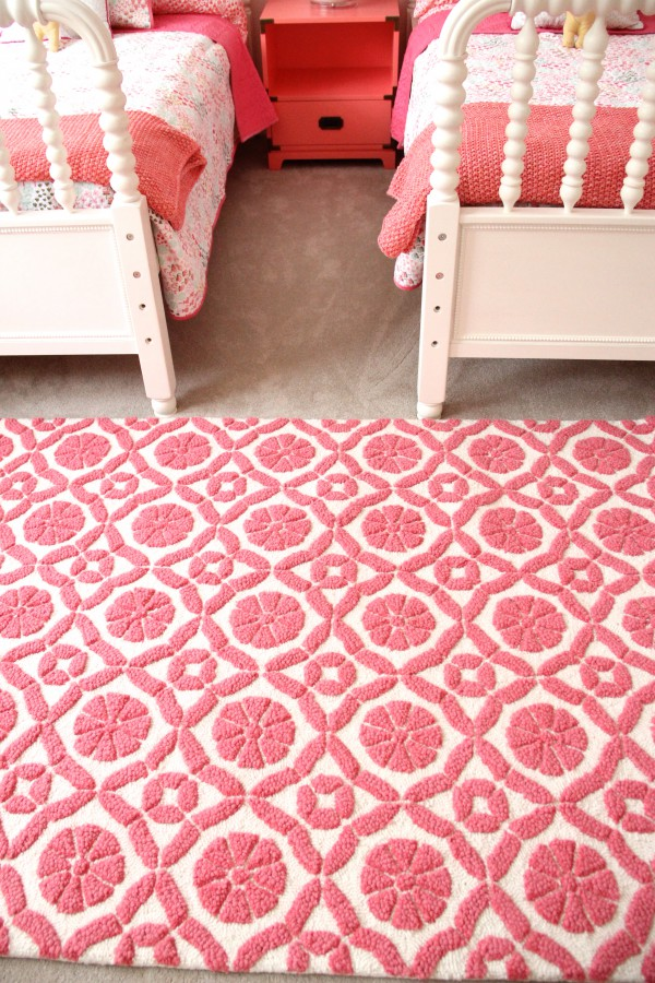 PINK GARDEN TRELLIS RUG FROM LAND OF NOD