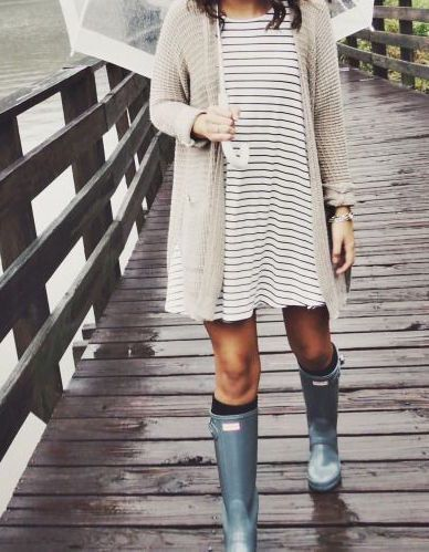 HUNTER BOOTS - A WARDROBE STAPLE AROUND HERE!