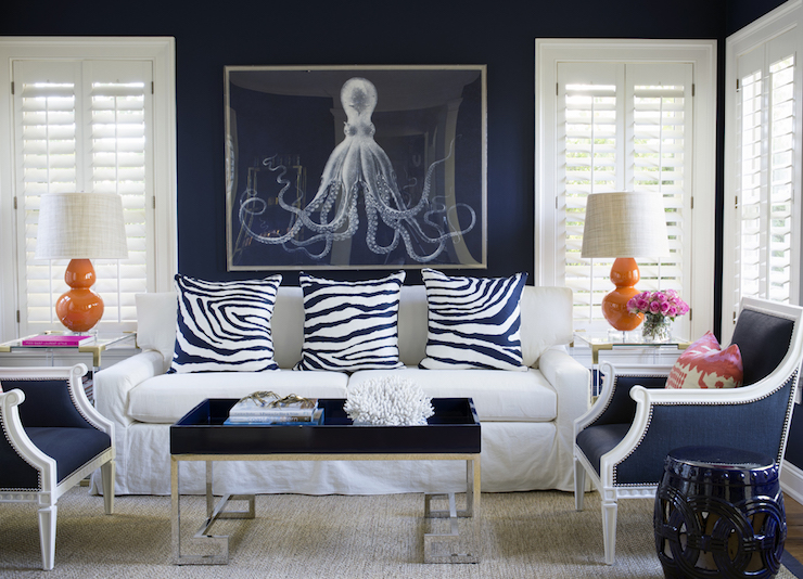 Navy And Orange Living Room Lord Bodner Octopus Navy Greek