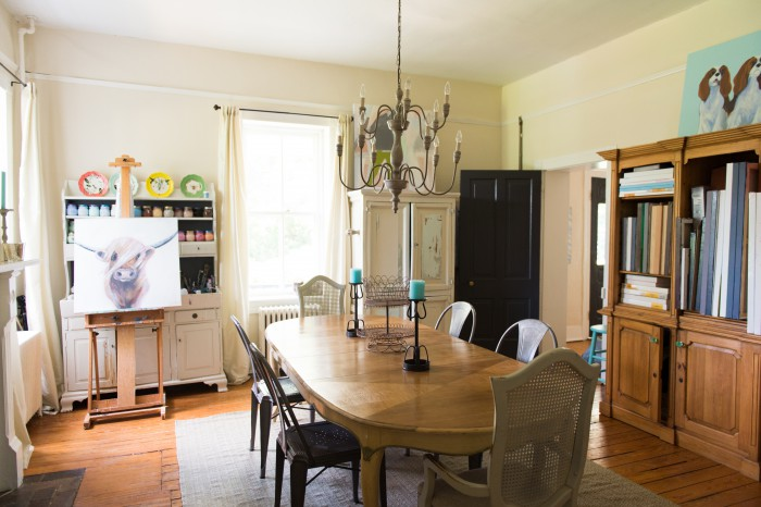 DINING ROOM TABLE REFINISHED PHOTO BY SARAH CRAMER PHOTO