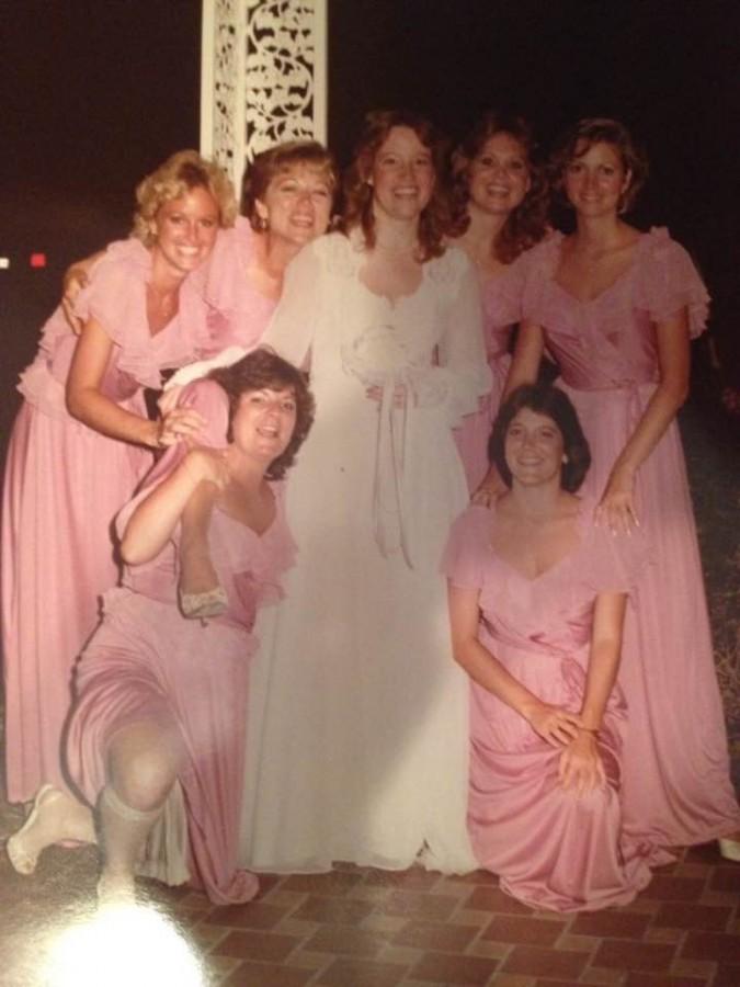 JANS WEDDING - JILL, LYNN, ELIZABETH, JAN, MARILYN, ME AND JAN'S SISTER PEGGY,