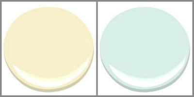 BENJAMIN MOORE ANTIQUITY AND SPRING MINT