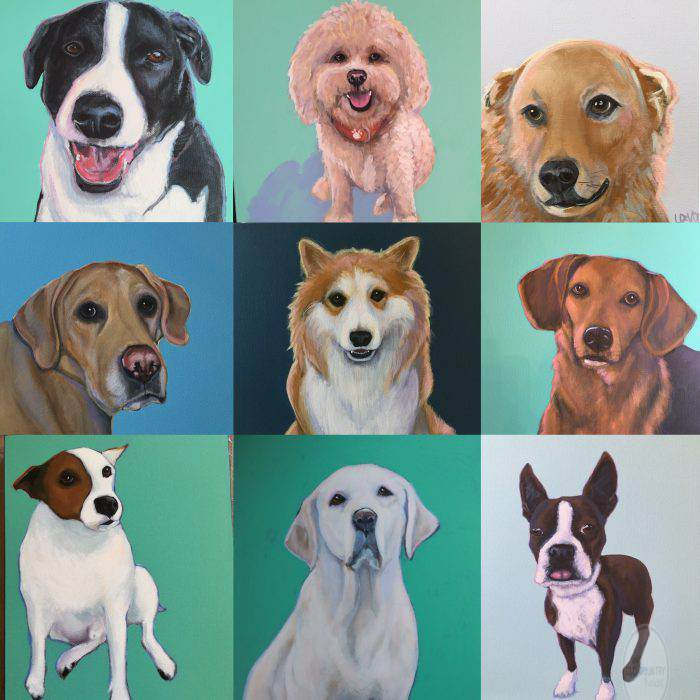SAMPLER OF CUSTOM PET PORTRAITS