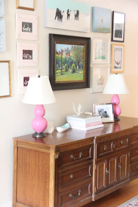 CREDENZA AND GALLERY WALL