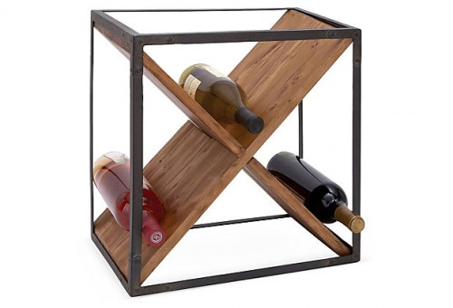 EARTHY & INVITING Crossed Wine Rack $49.00
