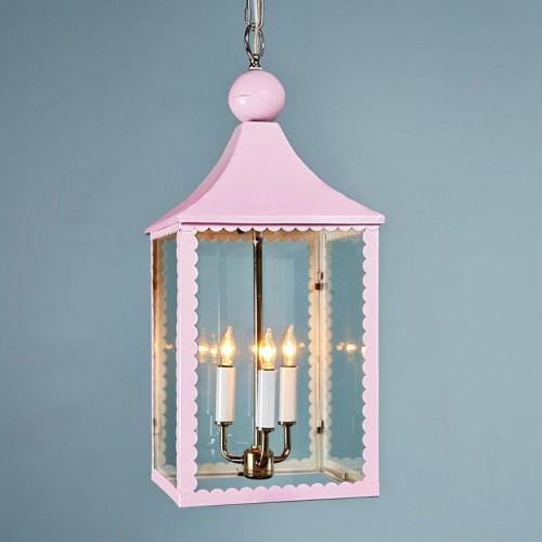 Scallop Trim Hanging Lantern