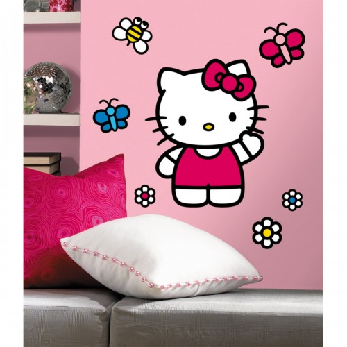 "HELLO KITTY WALL DECAL..HAYNEEDLE $17"" X 20"" $19.95"