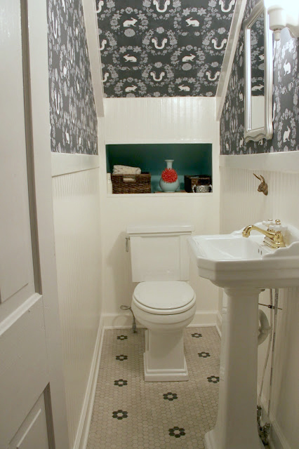 POWDER ROOM UNDER THE STAIRS